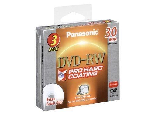 Panasonic DVD-RW 30 MIN 3 Pack LM-RW30U3 by Panasonic