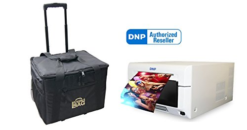 DNP DS620A Dye Sub Professional Photo Printer with 3 YEAR WARRANTY!!! Bundle with our ROLLING CARRYING CASE - perfect for carrying printer, paper, media, ribbon, cables. ( DNP DS620 ) by DNP and Eventprinters