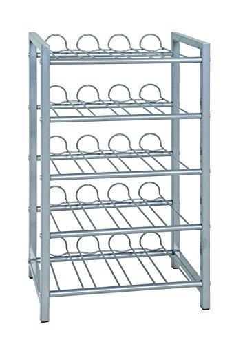 HAKU Möbel 38711 Flaschenständer, 22 x 34 x 59 cm, alu