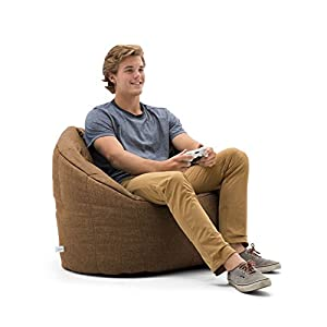 Lux by Big Joe Pecan Milano in Union Bean Bag, Multicolor