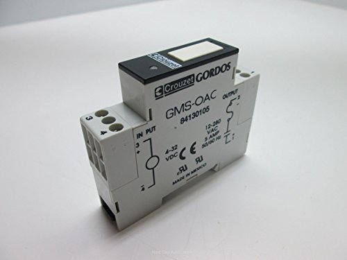 Crouzet Gordos GMS-OAC Solid State Relay, Input: 4-32VDC, Output: 12-280VAC 5A