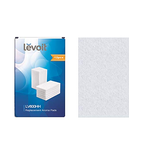 LEVOIT Aroma Pads (12 Pack) Perfectly Suit for LV600HH Warm and Cool Mist Ultrasonic Humidifier, Also Available to LV450CH, LV455CH, LV550HH Humidifier