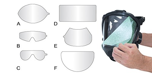 SAS Safety 7600-95 Peel-Away Lens Cover for Opti-Fit Respirator, 25 Per Package, Clear by SAS Safety (Image #1)