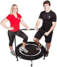 Maximus Life Bounce & Burn Foldable Indoor Mini Trampoline Rebounder for Adults. Fun Way to Lose Weight an