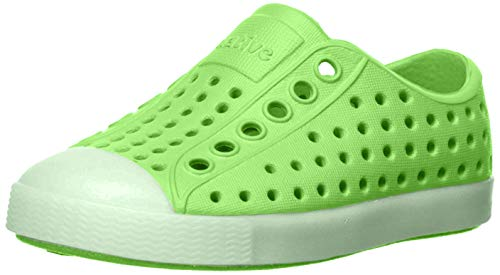 Native Kids' Jefferson Glow Child Water Shoe, Riddle Green/Glow in the Dark, 6 Medium US Toddler