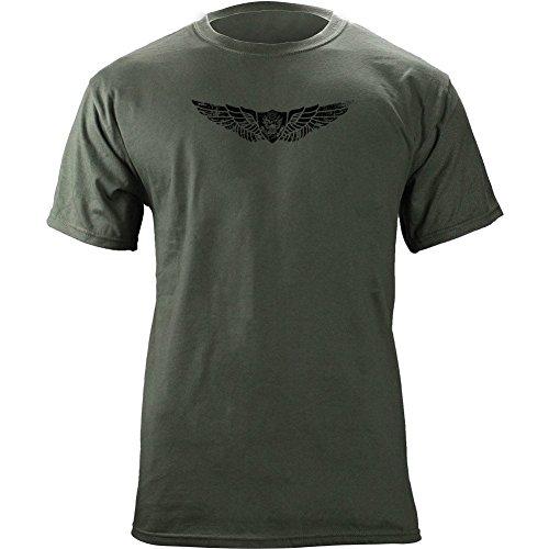 Vintage Army Aircraft Crewmember Badge Subdued Veteran T-Shirt (M, Green)