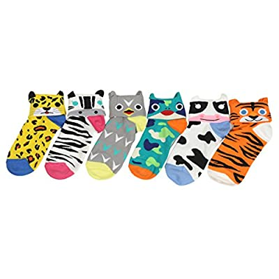 Cat Fan related Products Customonaco Women's Cool Animal Fun Crazy Socks [tag]