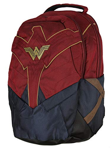 DC Comics Wonder Woman Backpack w/Laptop Sleeve and Water Bottle Pockets