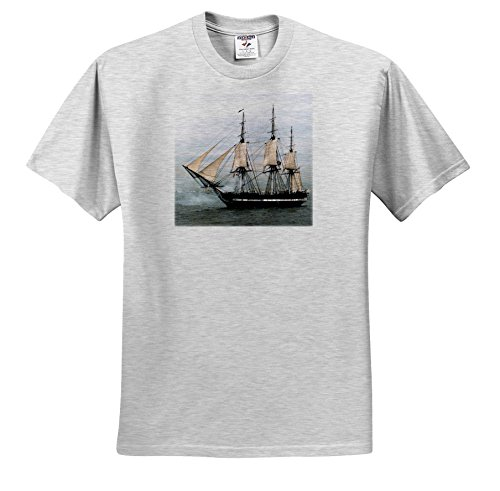 Florene Boat - USS Navy Constitution Ship - T-Shirts - Adult Birch-Gray-T-Shirt XL (ts_38112_21) ()