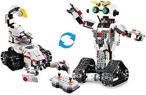 RCTecnic Robot Teledirigido para Montar 2 en 1, Escorpión Juguete Dispara Misiles | Kit Robótica Educativa para Niños | Juegos Electrónicos de Construcción 710 Piezas + 3 Motores: Amazon.es: Juguetes y juegos