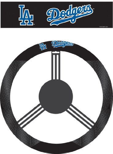 (MLB Los Angeles Dodgers Poly-Suede Steering Wheel Cover)