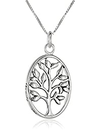 "Sterling Silver""Family. My Pride and Joy"" Family Tree Pendant Necklace, 18"""