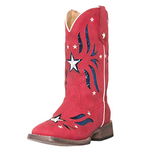 Children Western Kids Cowboy Boot,Red,1 M US Little -