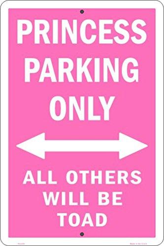Princess Parking Only No Parking Pink Metal Sign