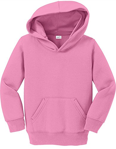 Joe's USA - Toddler Hoodies - Soft and Cozy Hooded Sweatshirts Sizes: 2T, 3T, 4T Candy Pink