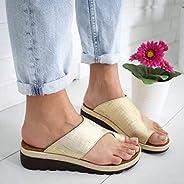 Women Comfy Platform Toe Ring Wedge Sandals Shoes Summer Beach Travel Shoes Comfortable Flip Flop Shoes