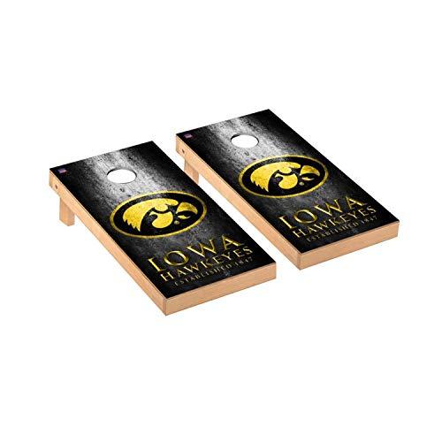 - Victory Tailgate Regulation Collegiate NCAA Museum Series Cornhole Board Set - 2 Boards, 8 Bags - Iowa Hawkeyes