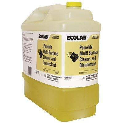 Ecolab, 1110387 2 Gallon Multisurface Peroxide Disinfectant Sold Individually, 256 Fl Oz