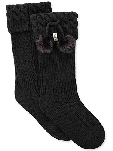 Ugg Boots Socks (UGG Women's Pom Tall Rainboot Sock, Black, O/S)