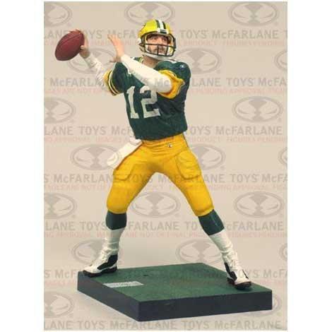 27 Aaron Rodgers action NFL Green Bay Packers McFarlane 2011 Series Figure