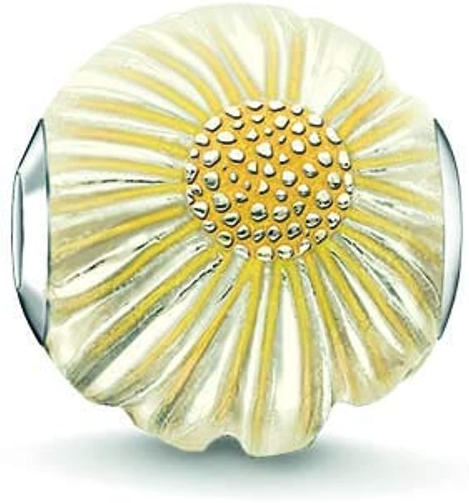 Thomas Sabo Femmes-Bead Marguerite Karma Beads Argent Sterling 925 jaune K0200-007-4