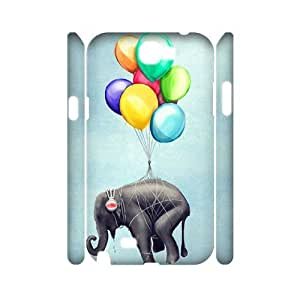 Elephant Unique Design 3D Cover Case for Samsung Galaxy Note 2 N7100,custom cover case ygtg526040