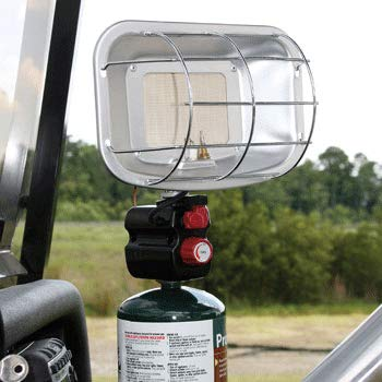 Golf Cart Heater - Portable Propane Golf Cart Heater w/Cart Cup Holder & Camping Attachment - Universal Camping, Fishing, Hunting & Golfing Heater for Golf Carts (EZGO, Yamaha, Club CART & More)