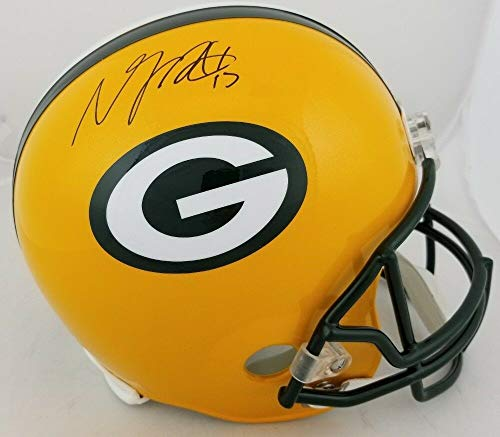 Davante Adams Autographed Signed Full Size Replica Green Bay Packers Helmet Memorabilia - JSA Authentic