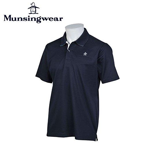 マンシングウェア MUNSINGWEAR ゴルフ メンズ 半袖 ボタン シャツ シャツ JWMJ230 M145 ネイビー 17sscz サイズ:3L