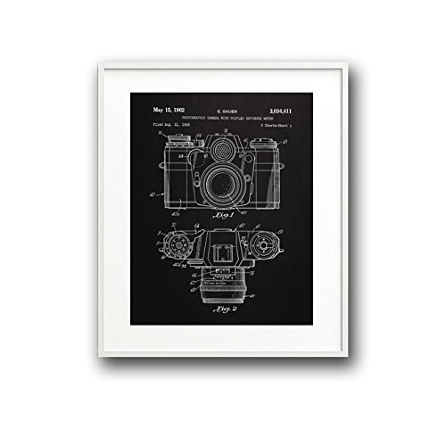 Amazon camera blueprint art print for home or office handmade camera blueprint art print for home or office malvernweather Images