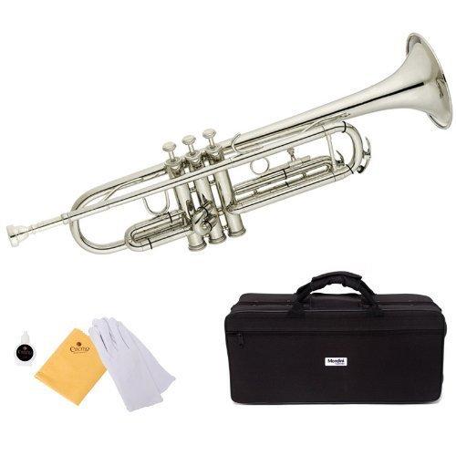 Mendini by Cecilio MTT-N Trumpet, Silver, Bb