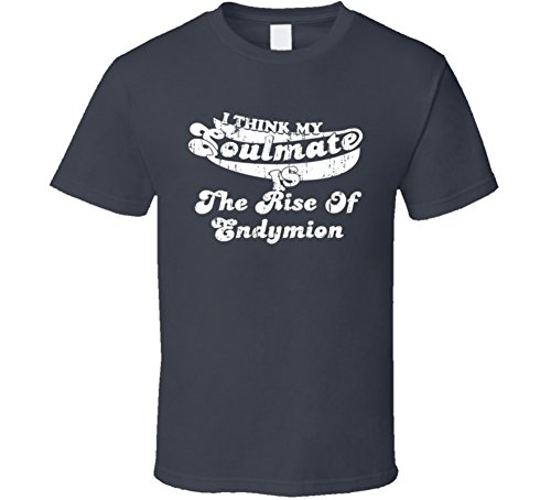 Soulmate is the Rise of Endymion Best Fantasy Novel Worn Look T Shirt S Charcoal Grey