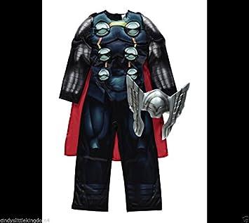 New George Marvel Avengers Thor boys Fancy Dress Outfit Dressing Up Costume [3-4 & New George Marvel Avengers Thor boys Fancy Dress Outfit Dressing Up ...