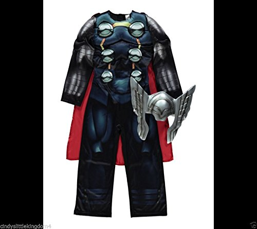 Outfits Up Dressing Uk Childrens (New George Marvel Avengers Thor boys Fancy Dress Outfit Dressing Up Costume [3-4)