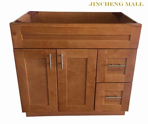 Vanity Shaker Maple Wood Cabinet - 36