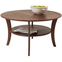 Manchester Wood Round Coffee Table - Chestnut