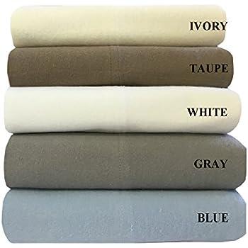 Amazon.com: Pinzon 190 Gram Heavyweight Velvet Flannel Sheet Set ...