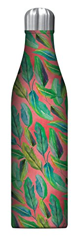 (Studio Oh! 25 oz. Insulated Stainless Steel Water Bottle Available in 10 Designs, Justina Blakeney Botanicals on Blush)