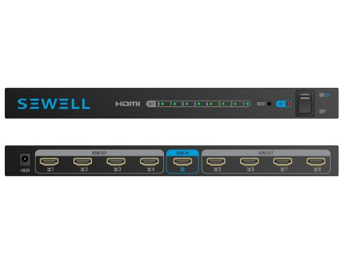 Sewell Direct SW-29446 8 Port (1x8) v1.3b HDMI Splitter with 3D Support ()