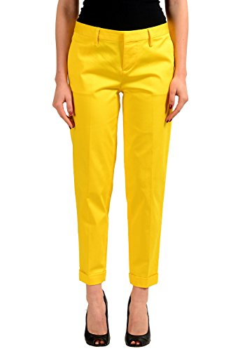 Dsquared2 Yellow Women's Cropped Casual Pants US S IT 40