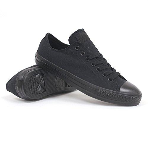 Converse Chuck Taylor All Star Ox Black Monochrome Unisex Style Sneakers, Black/Mono, 9