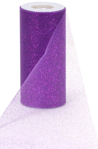 Berwick Offray Purple Sparkle Tulle by the Bolt, 6'' W, 25 Yards ()
