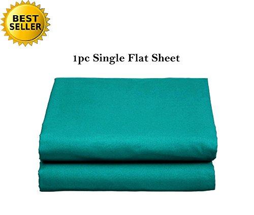 Elegant Comfort Luxury Ultra Soft Single Flat Sheet Special Treatment Construction King, Turquoise