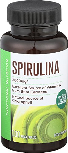 Whole Foods Market, Spirulina 500mg, 100 ct