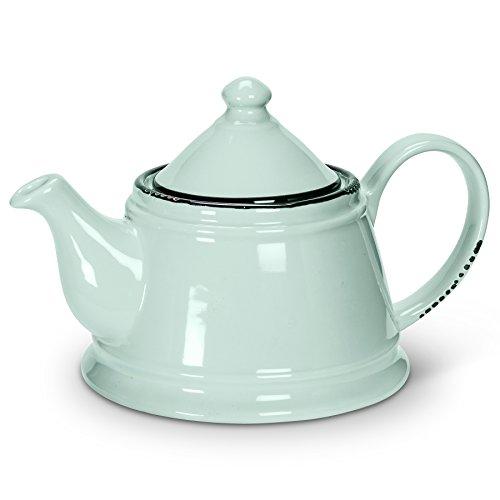 Abbott Collection Green Enamel Look Teapot