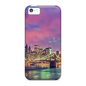 New Style Case Cover Amazing Brooklyn Bridge Manhattan Hdr Compatible With Iphone 5c Protection Case