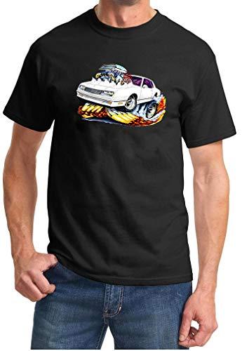 1987 1988 Monte Carlo SS Cartoon Muscle Car Design Tshirt 2XL Black