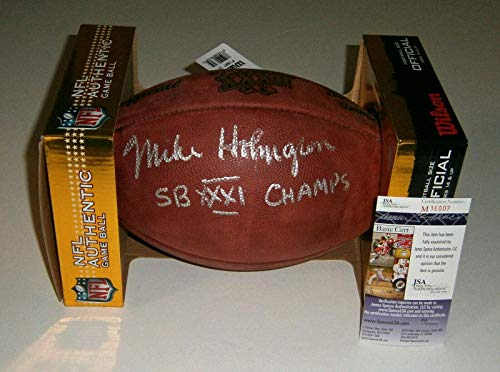 Mike Holmgren Signed Football - PACKERS Super Bowl XXXI w SB Champs COA - JSA Certified - Autographed ()