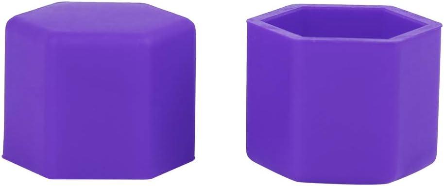 20 tappi antipolvere in silicone viola da 21 mm AUTOHAUX