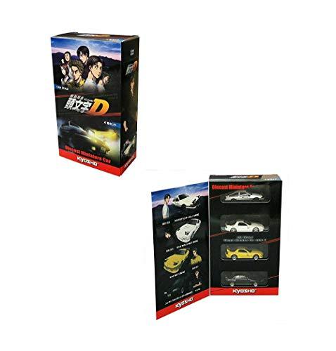 New DIECAST Toys CAR KYOSHO 1:64 Initial D Movie Edition 4-CAR Set K07057A6